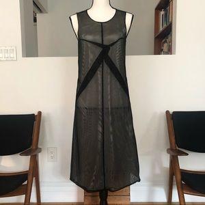 Jil Sander circa 2000 minimalist mesh dress